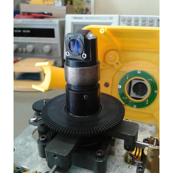 Detalle del rotor de un nivel láser